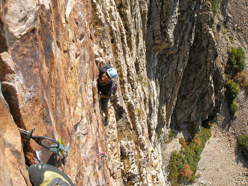 Rock Climbing Photo:  on the First Ascent