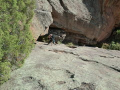 Rock Climbing Photo: Looking down second pitch.