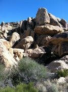 Rock Climbing Photo: This is a picture of the gap to the courtyard area...