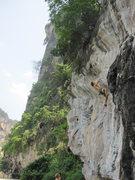 Rock Climbing Photo: Pahn Taalod (Always Pass). Glen in background on R...