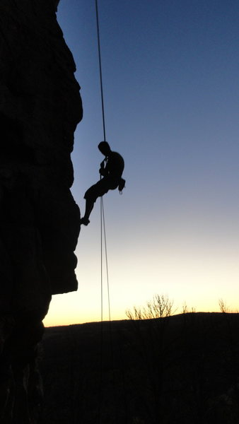 Rock Climbing Photo: Finishing the day. Beautiful.