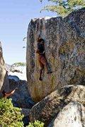 Rock Climbing Photo: enjoying the crimps on thin face