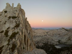 Rock Climbing Photo: Alpin Glow on Cathedral peak from the top of eicho...