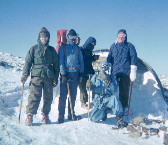 Edmonds Col; the crew returning to Gray Knob after climbing Mt Jefferson, December 1970