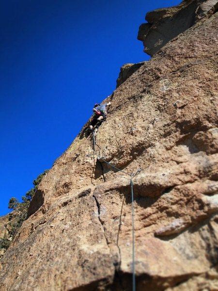 Rock Climbing Photo: Matt enjoying a fun cruiser on a warm fall day at ...