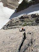 Rock Climbing Photo: Looking down P1....