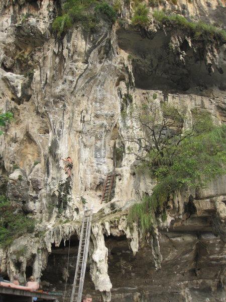 Rock Climbing Photo: Viking in Heat (5.11c), you can see how it ramps u...