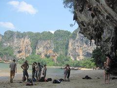 Rock Climbing Photo: Hanging out at Ton Sai beach.