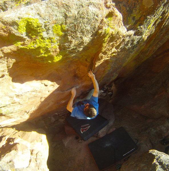 Rock Climbing Photo: Sean Topp on the Cave Hang.