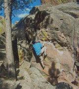 Rock Climbing Photo: Sean on Bulging Face.