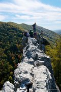 Rock Climbing Photo: Crowded day on top of the South Peak.  (Looking so...