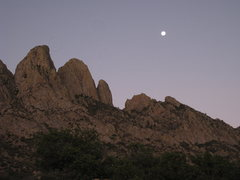 Rock Climbing Photo: The moon is setting during our early morning appro...