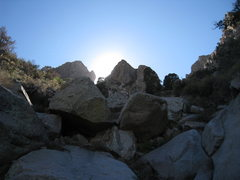 Rock Climbing Photo: On our hike out (back down to Aguirre Springs), lo...