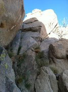 Rock Climbing Photo: Chutes & Ladders is the thin crack on the left.