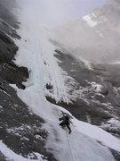 Rock Climbing Photo: Climbing the apron to the base of Hydrophobia.  Ph...