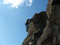 Rock Climbing Photo: Daniel on Lazarus 5.9