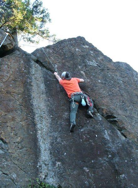 Rock Climbing Photo: Brian on West Nile Virus 5.10b/c