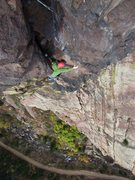 Rock Climbing Photo: Aaron is following the stellar 5.10c pitch on the ...