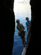 Rock Climbing Photo: Pitch 6 follows fun cave