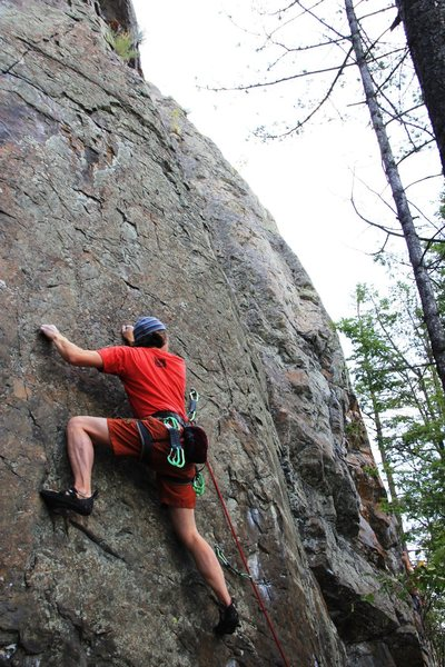 Completing the crux on Static Cling, 5.11d