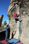 Rock Climbing Photo: Tim on the classic Bourbon IV