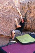 Rock Climbing Photo: Tim pulling onto the sit start of Chocolate
