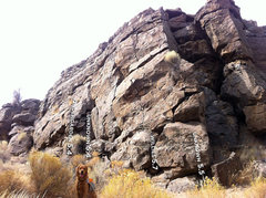 Rock Climbing Photo: Looking back SW at the NE corner of the South Midd...