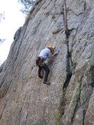 Rock Climbing Photo: At the crux (photo by Phil Ashton).