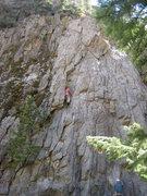 Rock Climbing Photo: Phil Ashton halfway up Creekside Cruise.