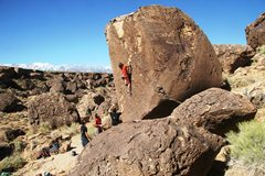 Rock Climbing Photo: Enjoying the deep pockets at the end of the crux s...