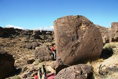 Rock Climbing Photo: Justin commits to the traverse on Wicca Warrior, V...