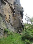 Rock Climbing Photo: Bull's Crack at Heptonstall