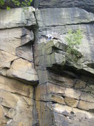 Rock Climbing Photo: The resting ledge before the final struggle