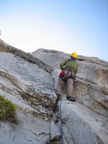 Rock Climbing Photo: Climbing El Centro on the North Face of Owens Ridg...