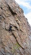 Rock Climbing Photo: Mark Graham at the first cruxy bit.