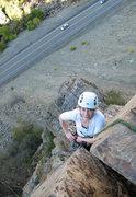 Rock Climbing Photo: Gwen on Outside Corner, Oct. 2011.