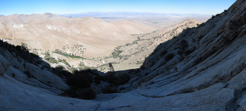 Looking down from the belay near the beginning of El Centro.