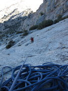 Rock Climbing Photo: Joe coming up to one of the rare belays high on th...