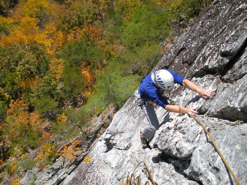 Rock Climbing Photo:  Nearing the top of High Test