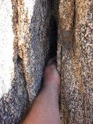 Rock Climbing Photo: Quality hand jams down low on Rice Krispy Teeth