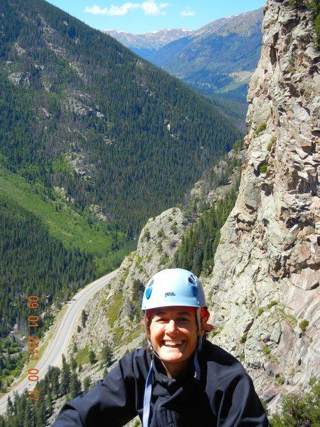"Rock Climbing Photo: Diana, on ""Nearer to thee"", on RA, Empir..."