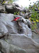 Rock Climbing Photo: Ted Sticking the second sloper
