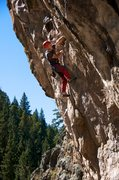 Rock Climbing Photo: After the third clip and heading up into the &quot...