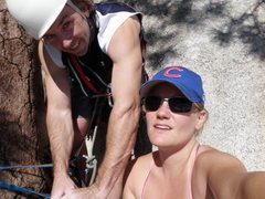 Rock Climbing Photo: Wifey and I at the top of P1 of a Rap Rock jaunt.
