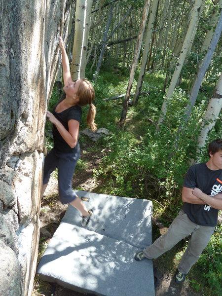 me climbing in Skyland