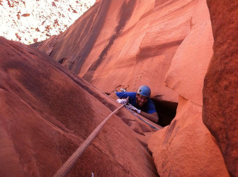 Rock Climbing Photo: Matt in the wideness