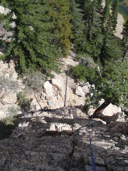 Rock Climbing Photo: A rather crummy photo taken near the top of The To...