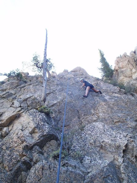 Rock Climbing Photo: My girlfriend on her second rock climb ever, 'I'm ...
