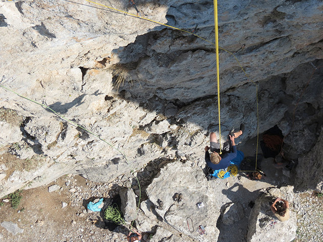 Rock Climbing Photo: Matt Nance on the free hang repel, KVR. You said t...
