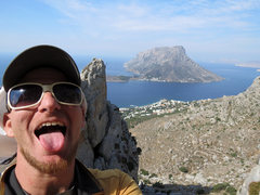 Rock Climbing Photo: The view from the top. Cooooome to Kalymnos. WHAT ...